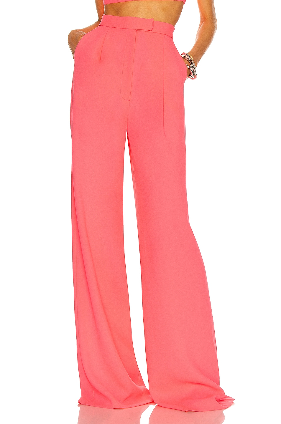 Image 1 of Alex Perry Hale Pant in Neon Pink