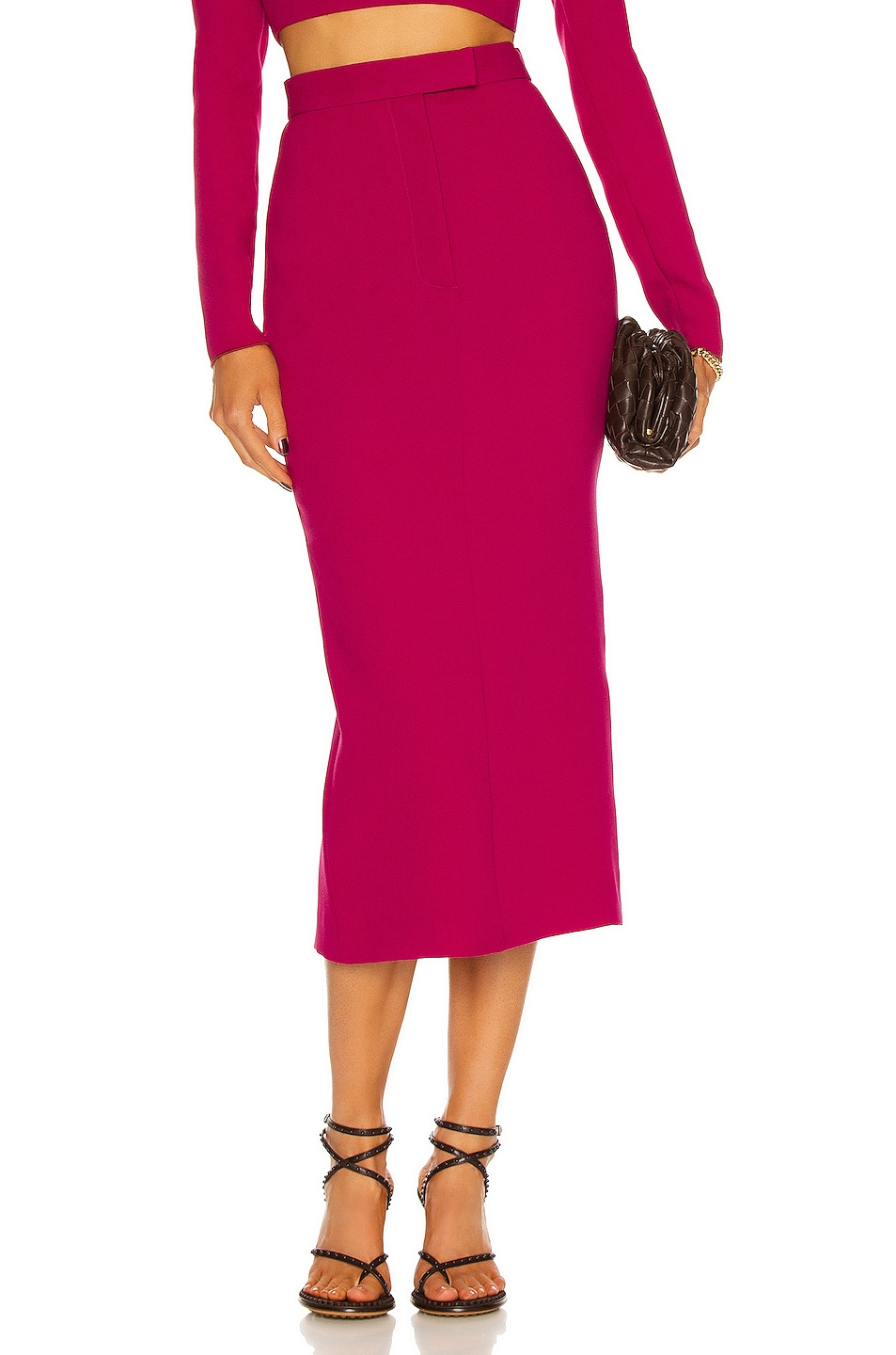 Image 1 of Alex Perry Delany Skirt in Raspberry