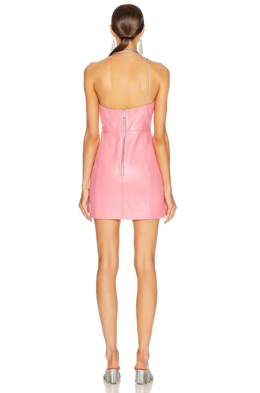 Image 3 of AREA Chandelier Tassel Strap Mini Dress in Pink
