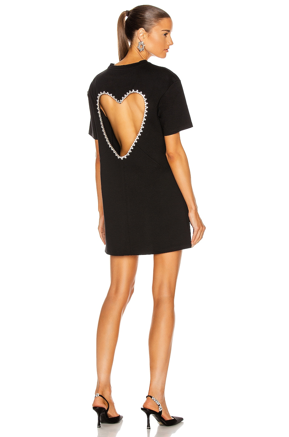 Image 1 of AREA for FWRD Open Heart Dress in Black