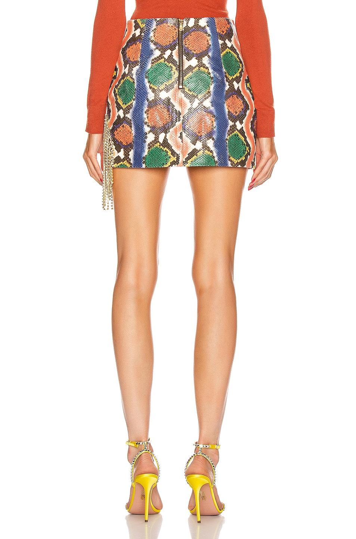 Image 4 of AREA Crystal Fringe Skirt in Rainbow