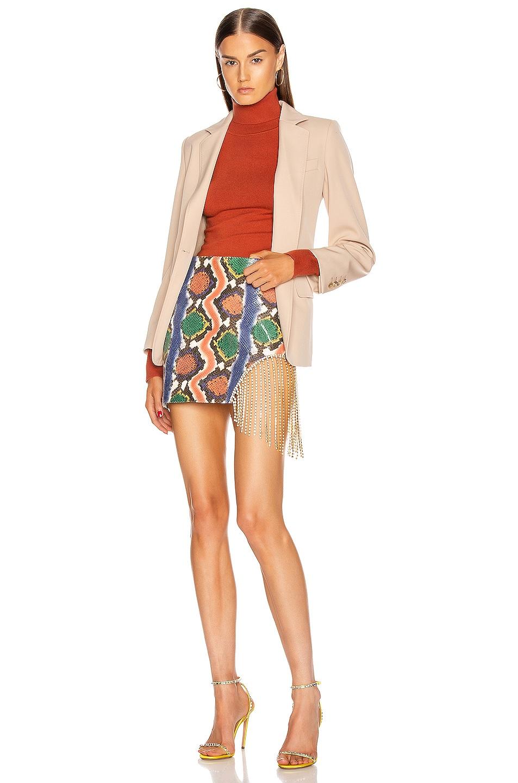 Image 5 of AREA Crystal Fringe Skirt in Rainbow