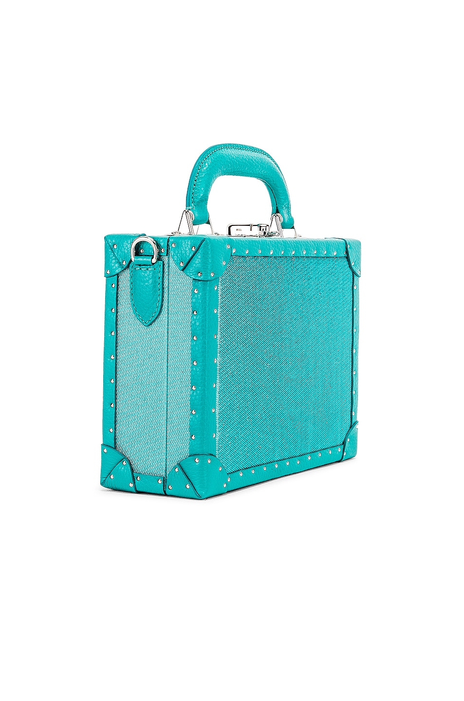 Image 4 of AREA Naomi Bag in Aqua