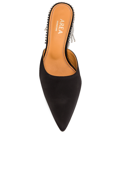 Image 4 of AREA Crystal Fringe Kitten Heel in Black
