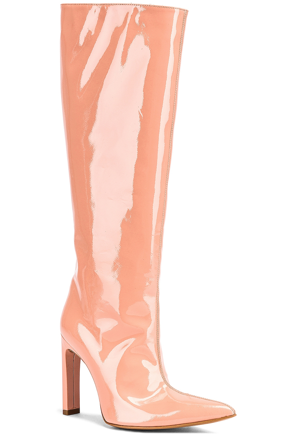 Image 2 of AREA Patent Knee High Boot in Nude