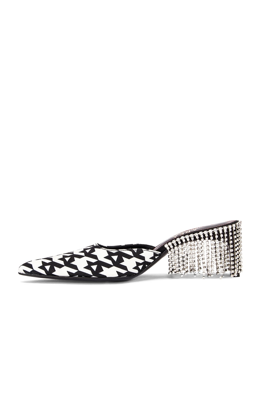 Image 5 of AREA Crystal Fringe Kitten heel in Black Houndstooth