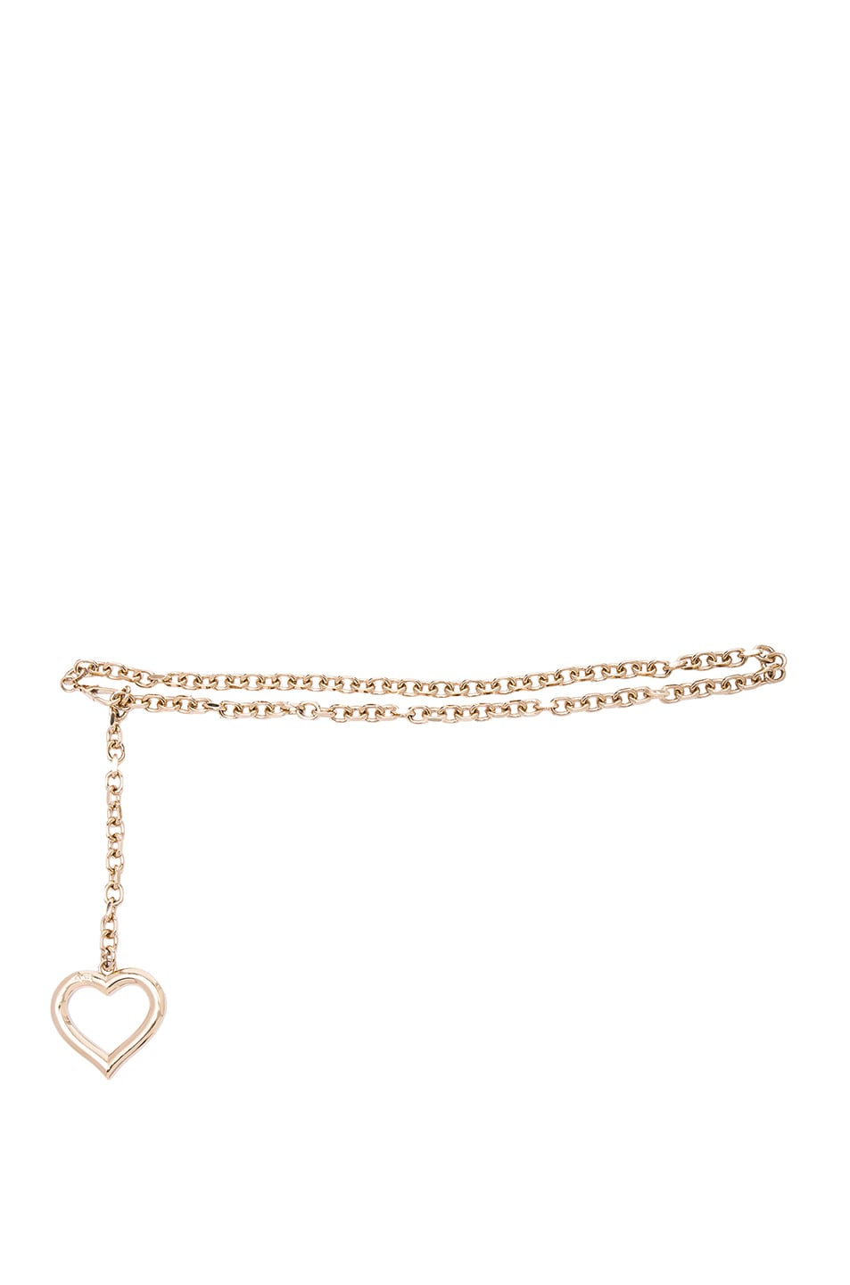 Image 1 of Alessandra Rich Chain Belt with Hanging Heart in Gold