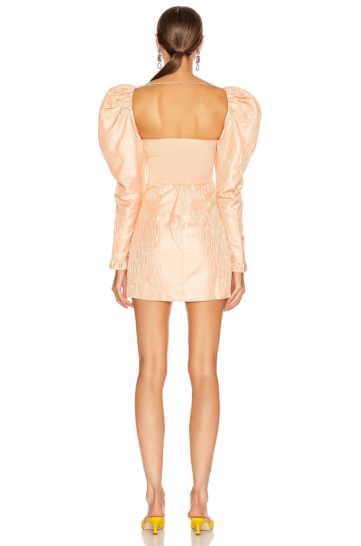 Image 3 of Alessandra Rich Moire Jacquard Mini Dress in Peach