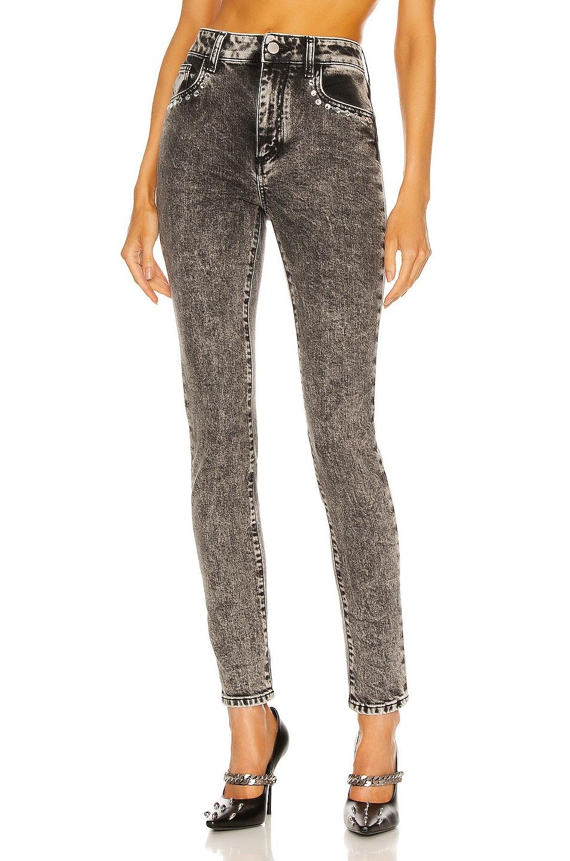 Image 1 of Alessandra Rich Skinny Jean in Grey