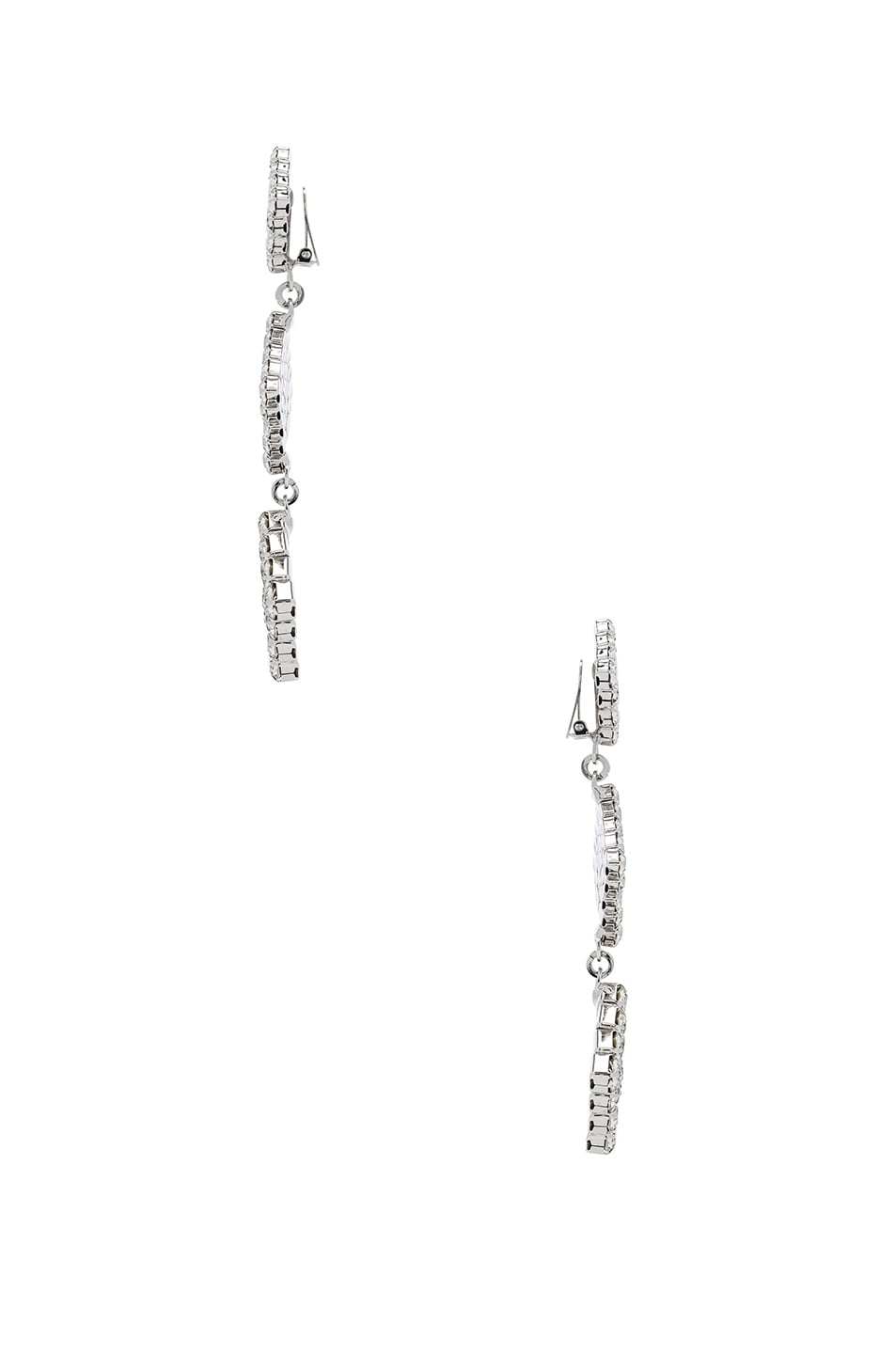 Image 2 of Alessandra Rich Long Crystal Dangle Earrings in Crystal