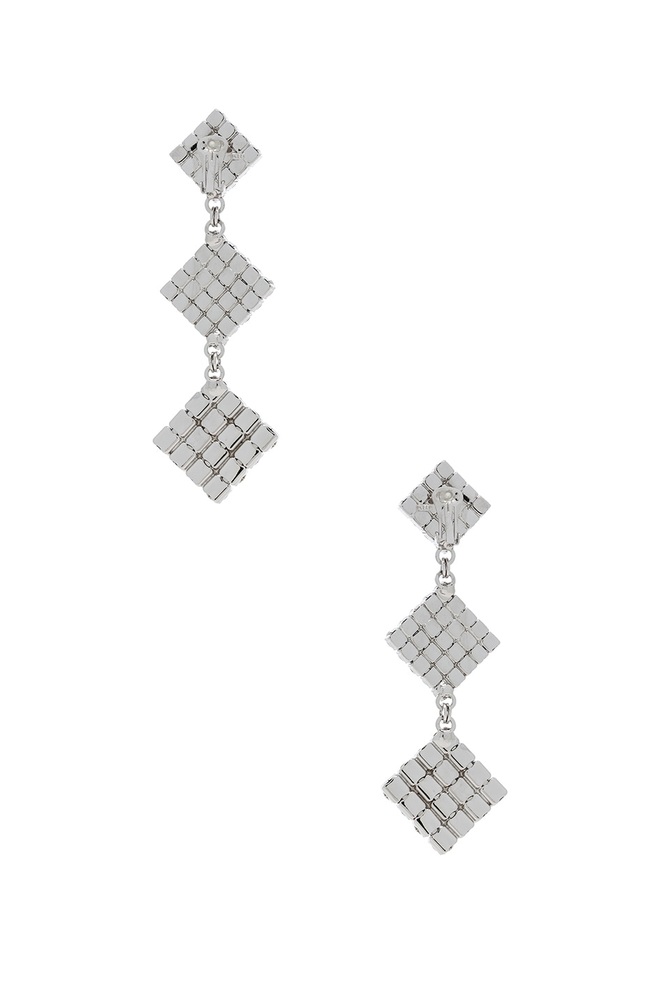 Image 3 of Alessandra Rich Long Crystal Dangle Earrings in Crystal
