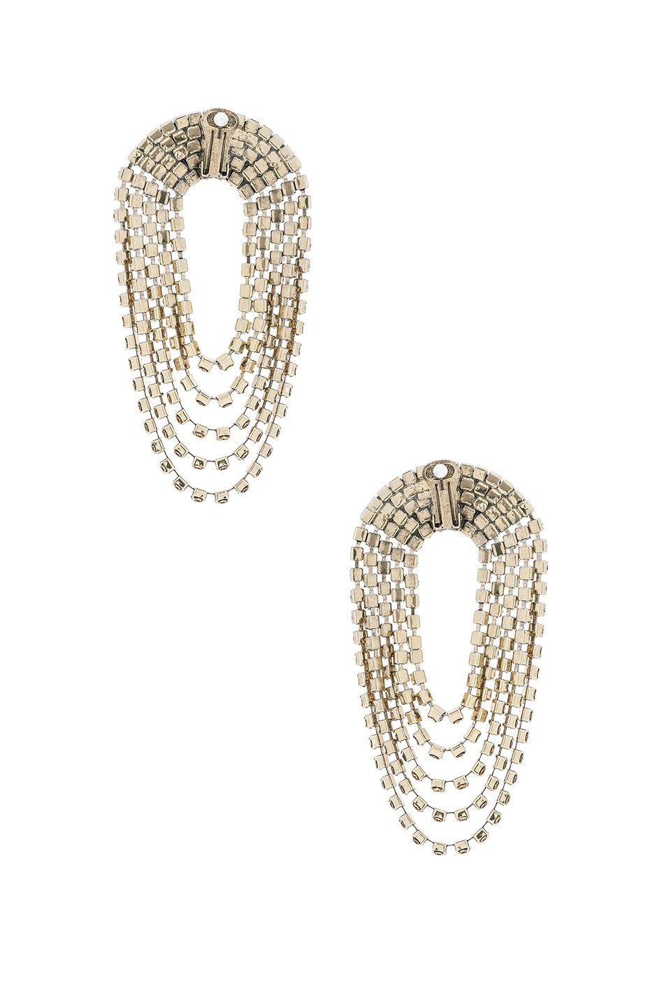 42c831b237 Image 3 of Alessandra Rich Draped Circle Crystal Earrings in Dark Gold