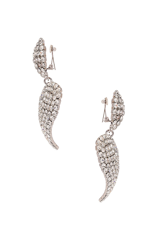 Image 3 of Alessandra Rich Heart Earrings in Crystal