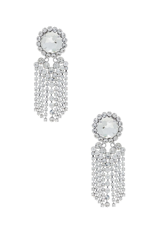 Image 1 of Alessandra Rich Chandelier Earrings in Crystal