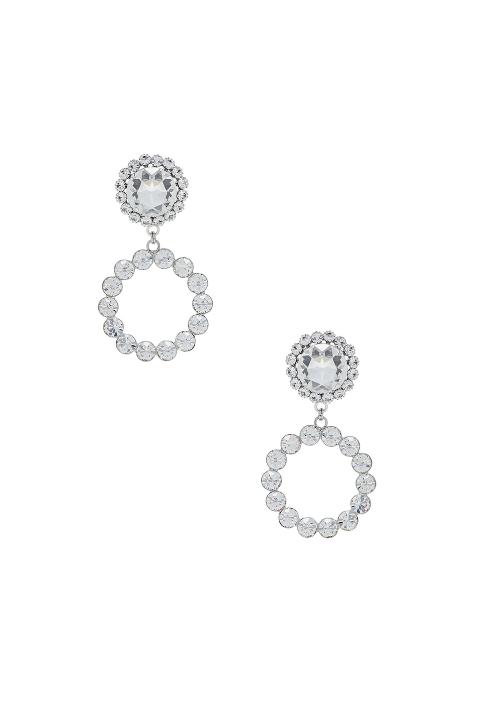 Image 1 of Alessandra Rich Circle Earring in Crystal