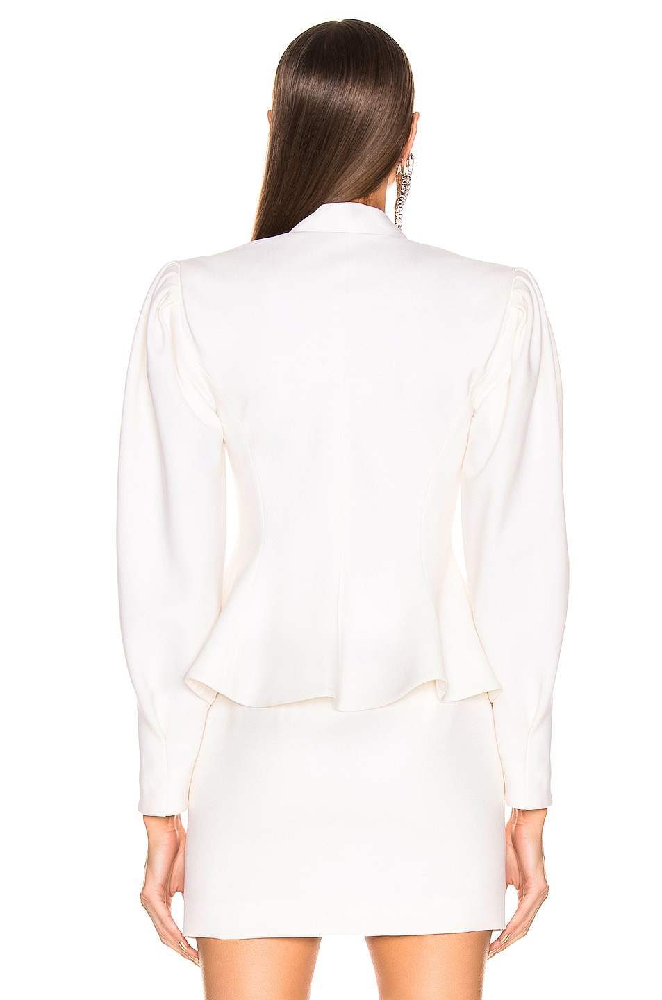 Image 3 of Alessandra Rich Peplum Jacket in White