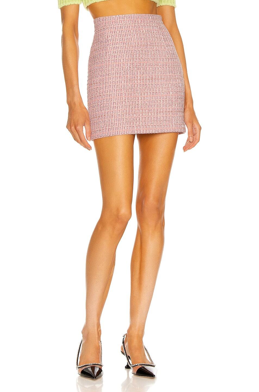 Image 1 of Alessandra Rich Tweed Mini Skirt in Pink