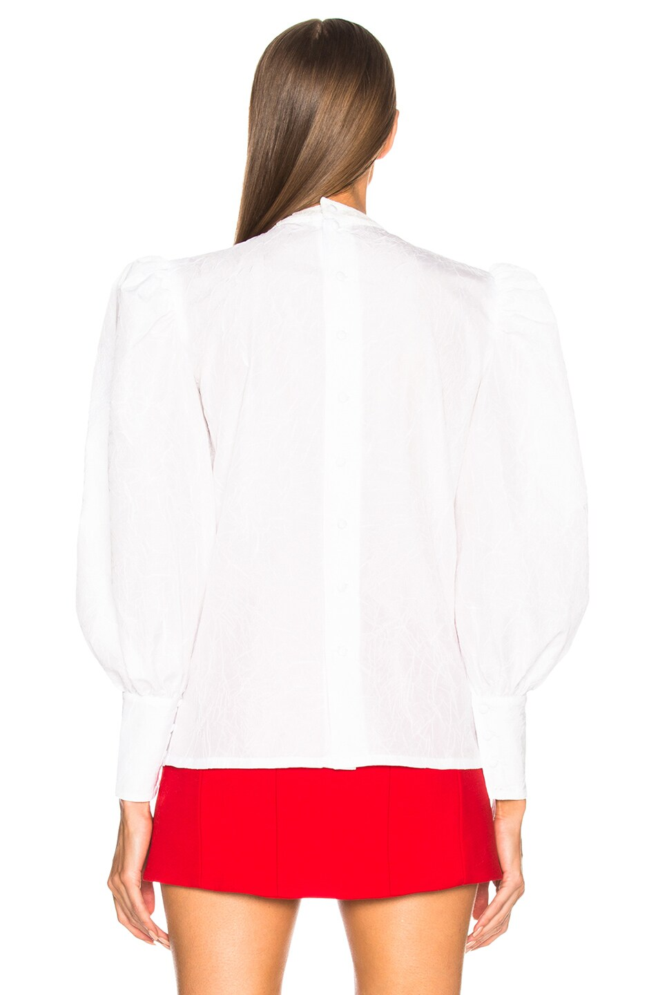Image 3 of Alessandra Rich Bow Detail Blouse in White