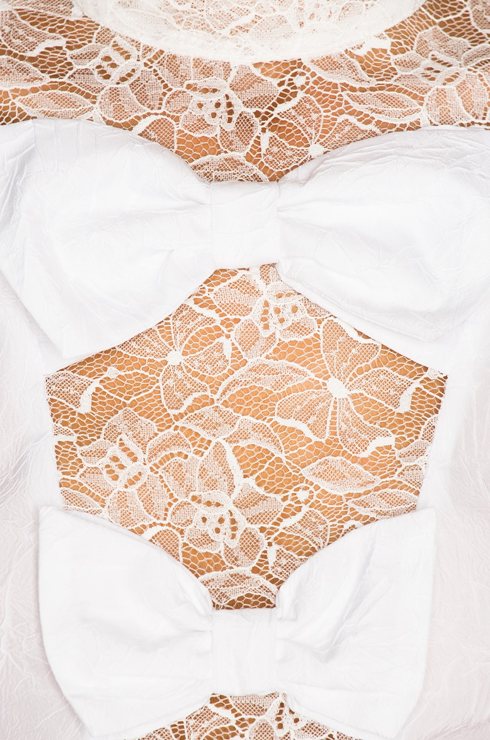 Image 5 of Alessandra Rich Bow Detail Blouse in White