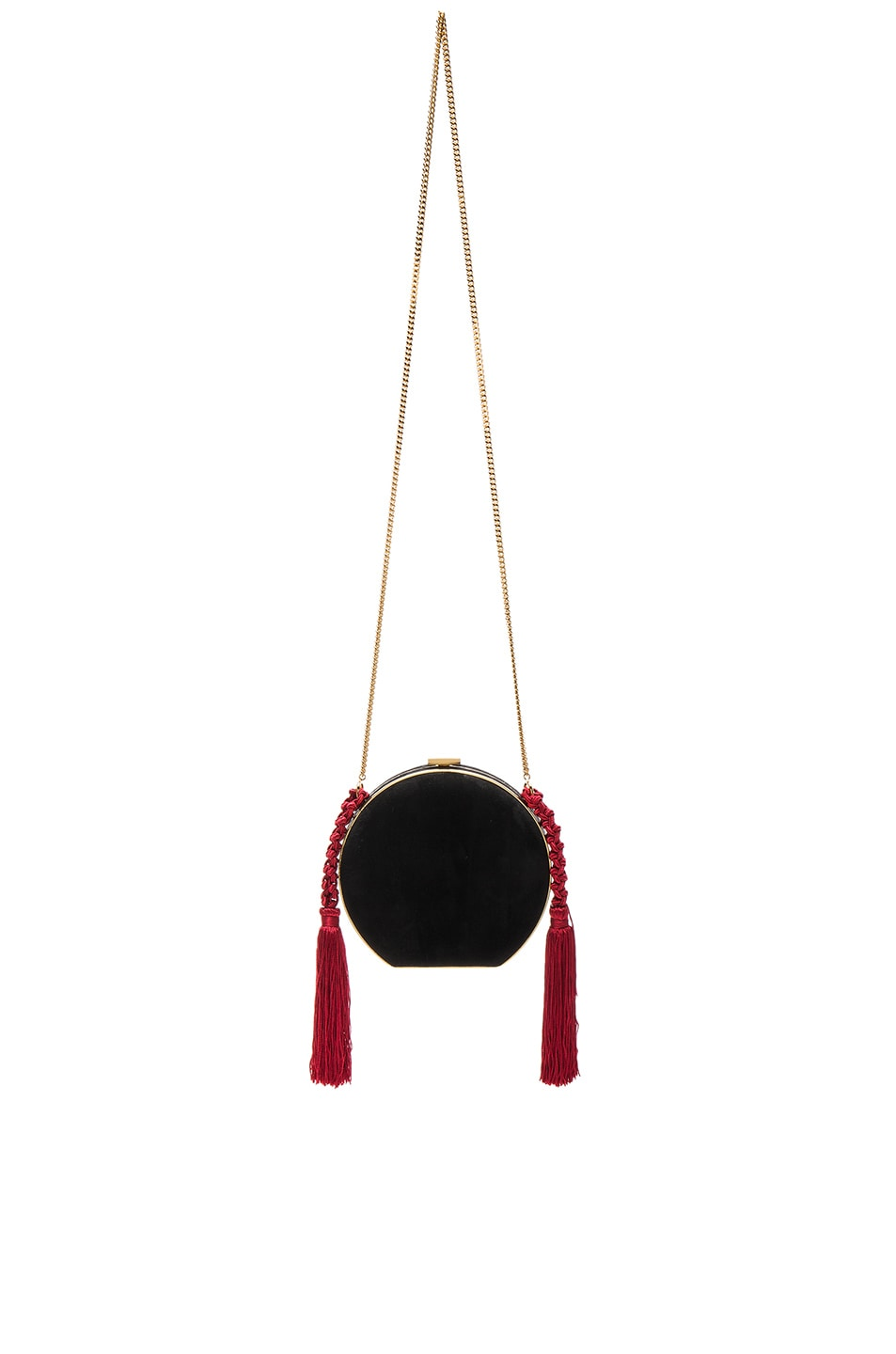Image 1 of Alessandra Rich Suede Minaudiere in Black