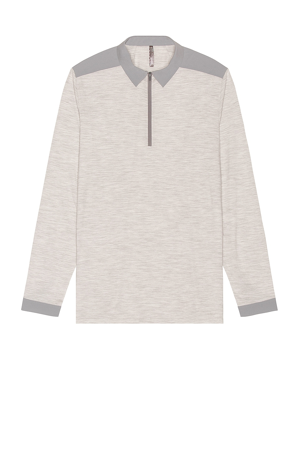 Image 1 of Veilance Frame Long Sleeve Polo in Light Grey Heather