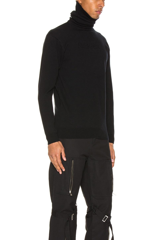 Image 2 of Ambush Turtle Neck Emboss Knit in Black