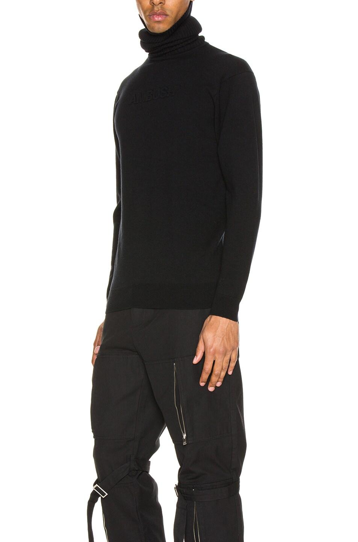 Image 3 of Ambush Turtle Neck Emboss Knit in Black