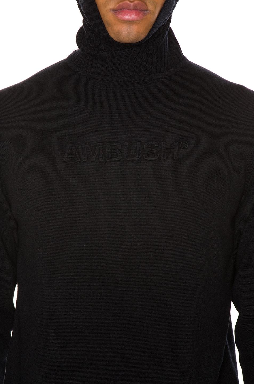 Image 7 of Ambush Turtle Neck Emboss Knit in Black