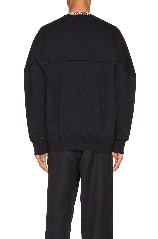 Image 3 of Ambush Wide Piping Sweatshirt in Black