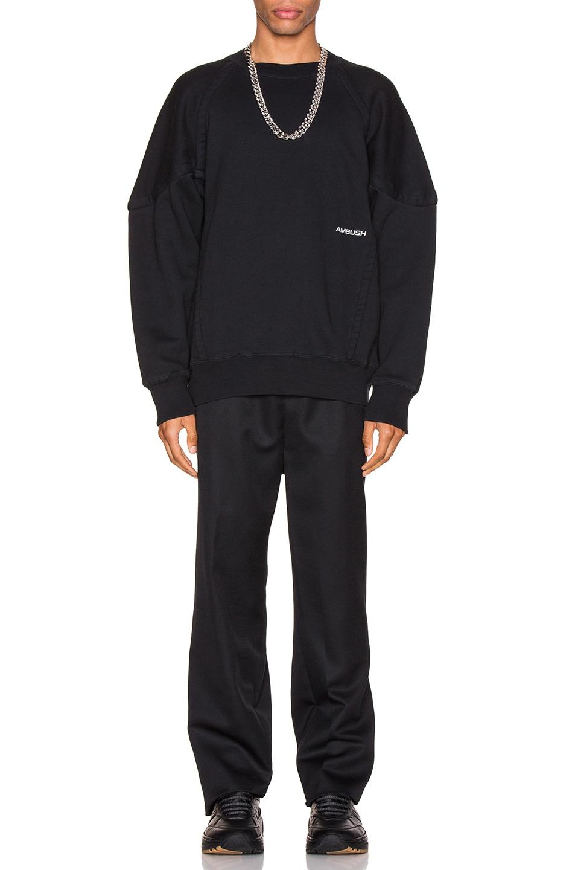 Image 4 of Ambush Wide Piping Sweatshirt in Black
