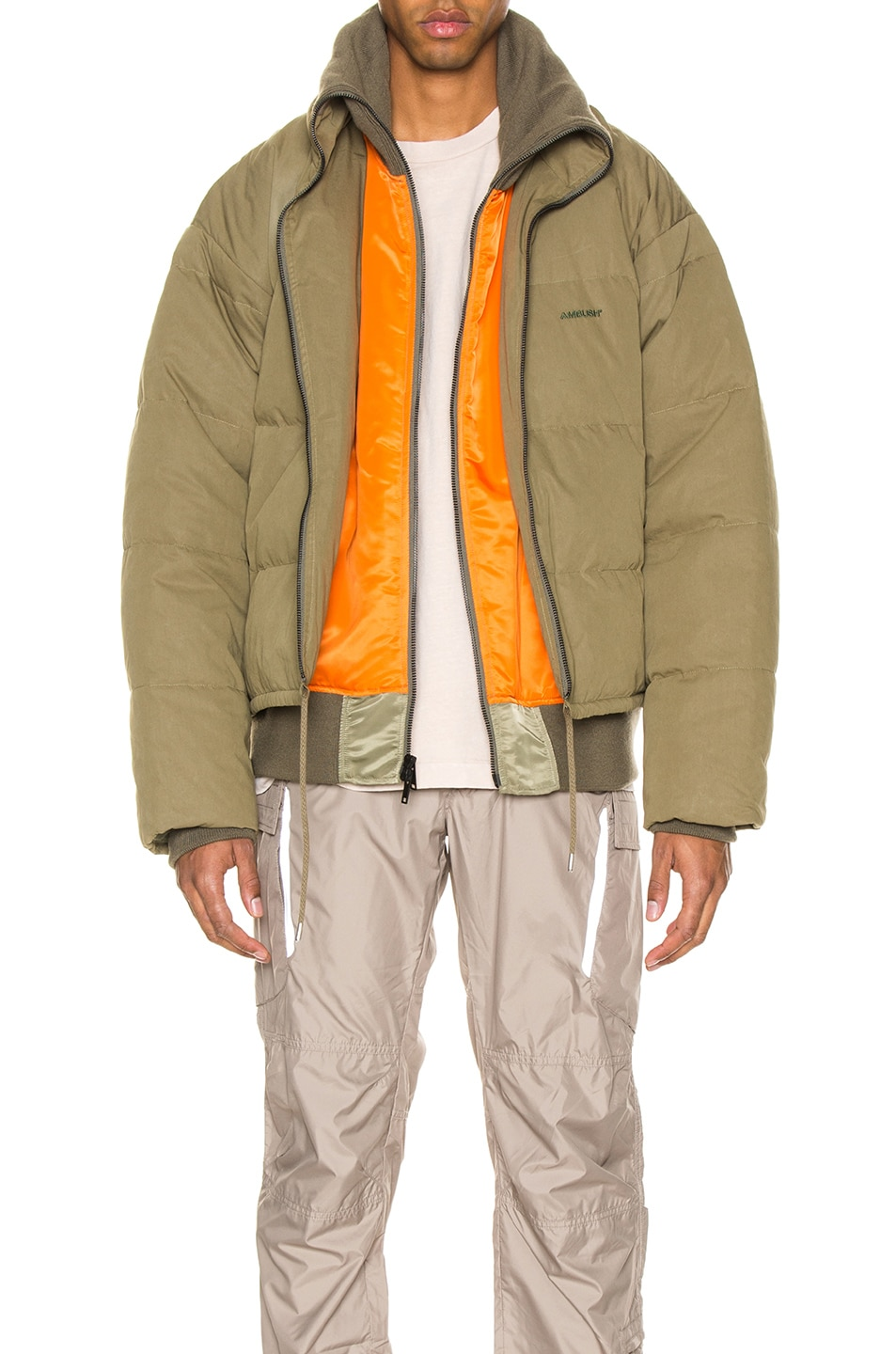Image 1 of Ambush Padded Reversible Jacket in Olive