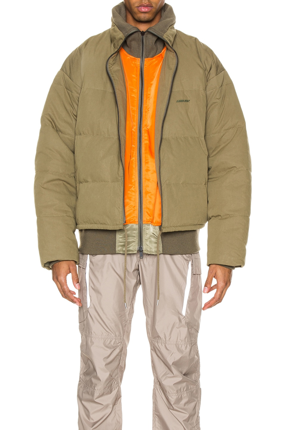 Image 3 of Ambush Padded Reversible Jacket in Olive
