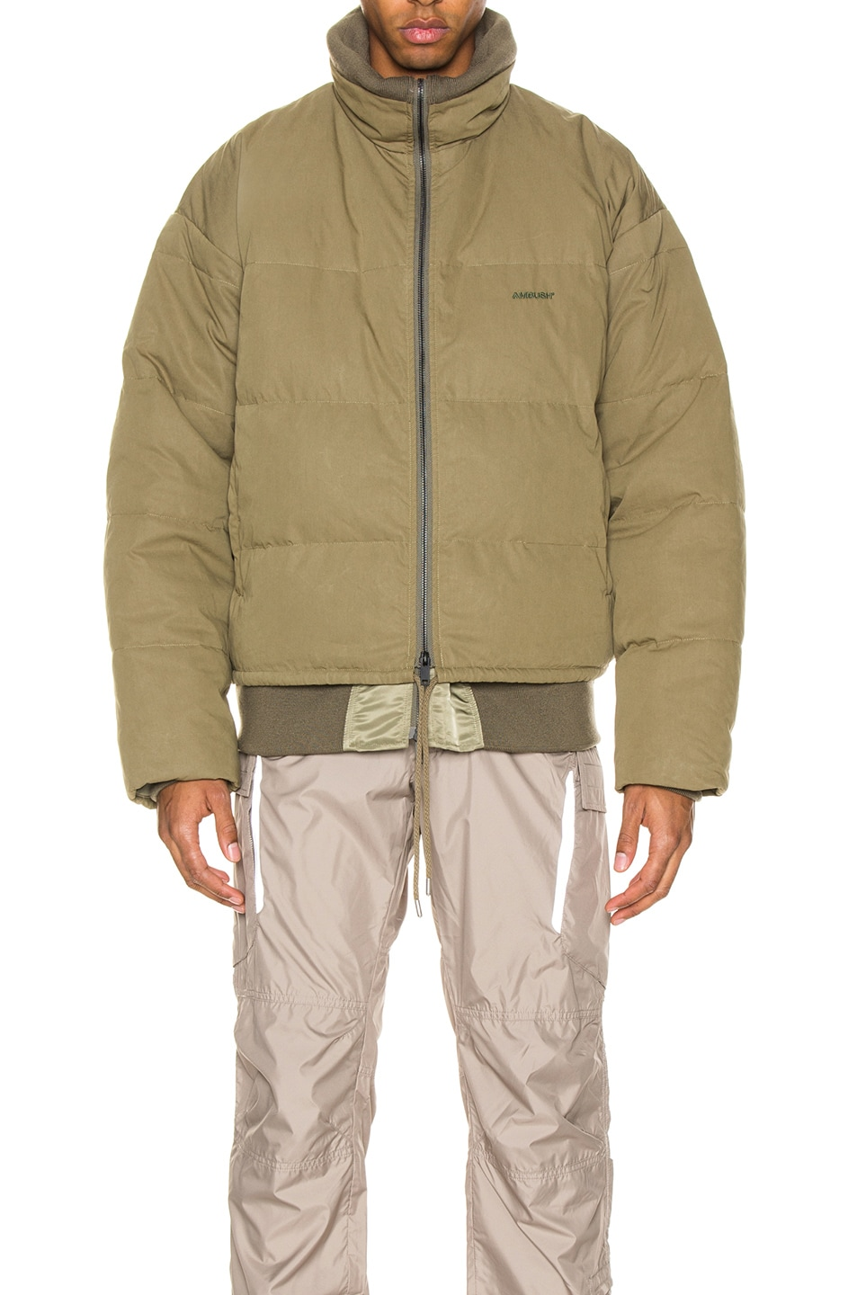 Image 4 of Ambush Padded Reversible Jacket in Olive