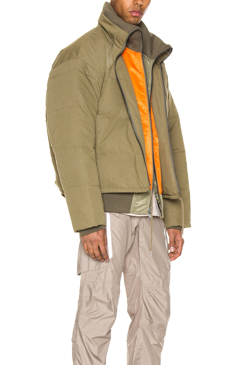 Image 5 of Ambush Padded Reversible Jacket in Olive