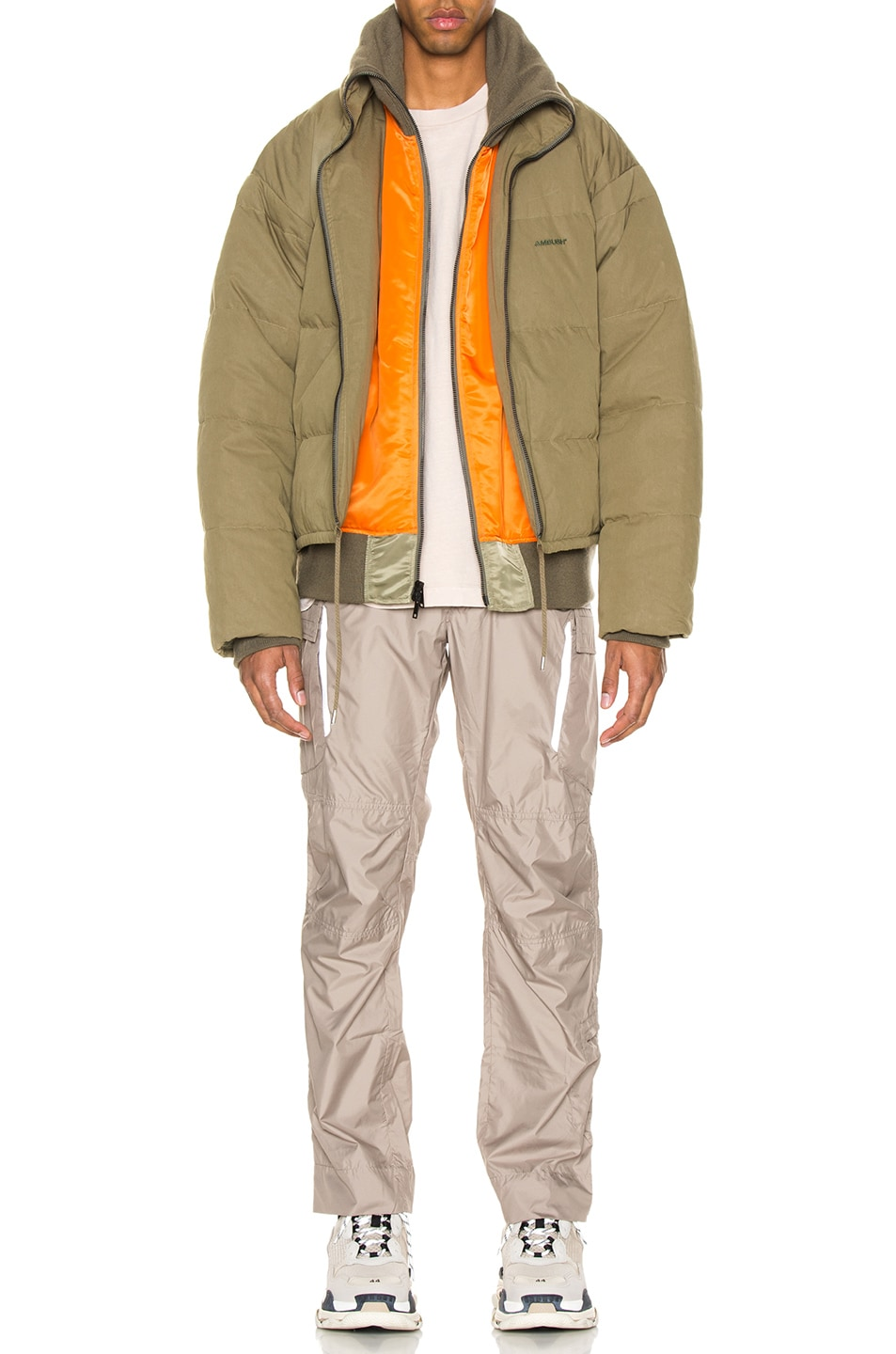 Image 7 of Ambush Padded Reversible Jacket in Olive