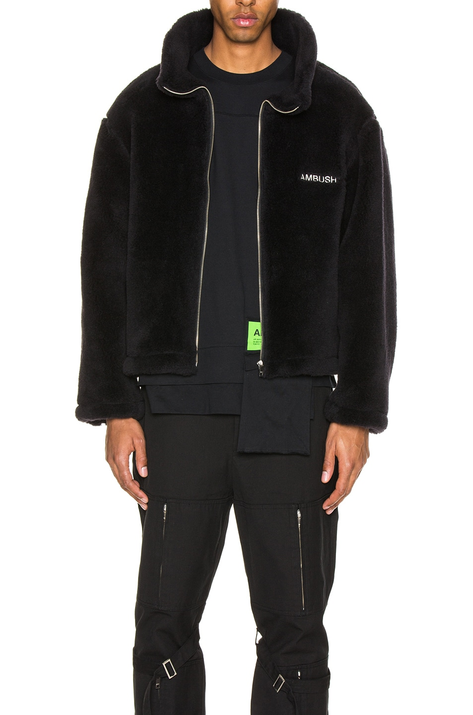 Image 1 of Ambush Fleece Jacket in Black