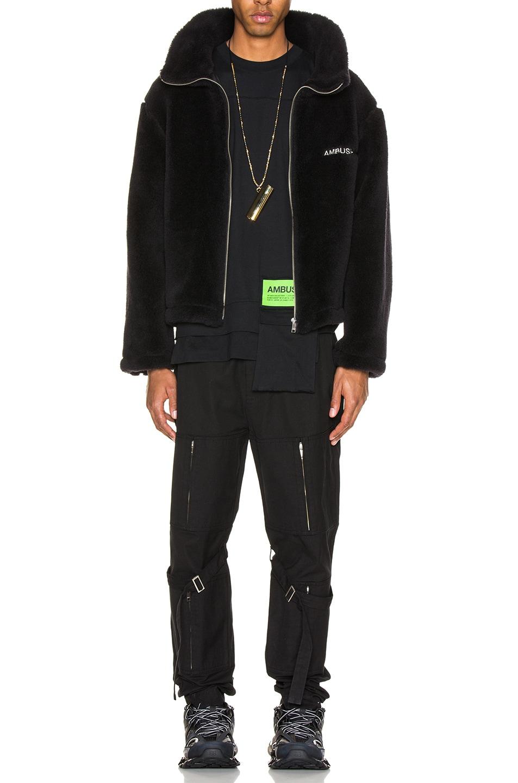 Image 5 of Ambush Fleece Jacket in Black