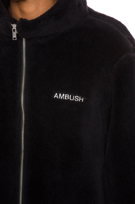 Image 6 of Ambush Fleece Jacket in Black