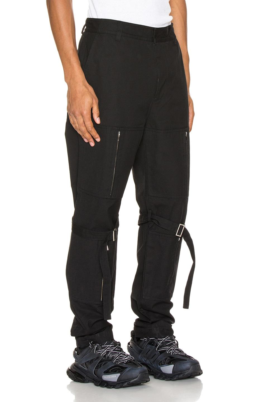 Image 2 of Ambush Zipper Bondage Pants in Black