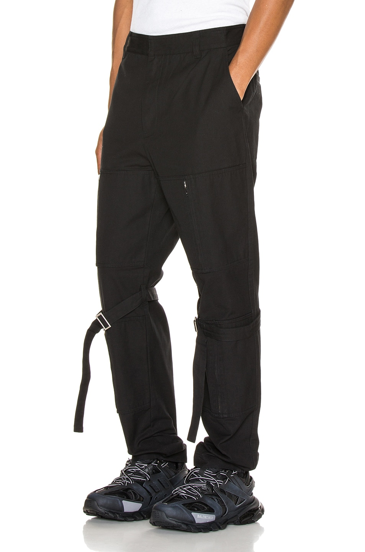Image 3 of Ambush Zipper Bondage Pants in Black