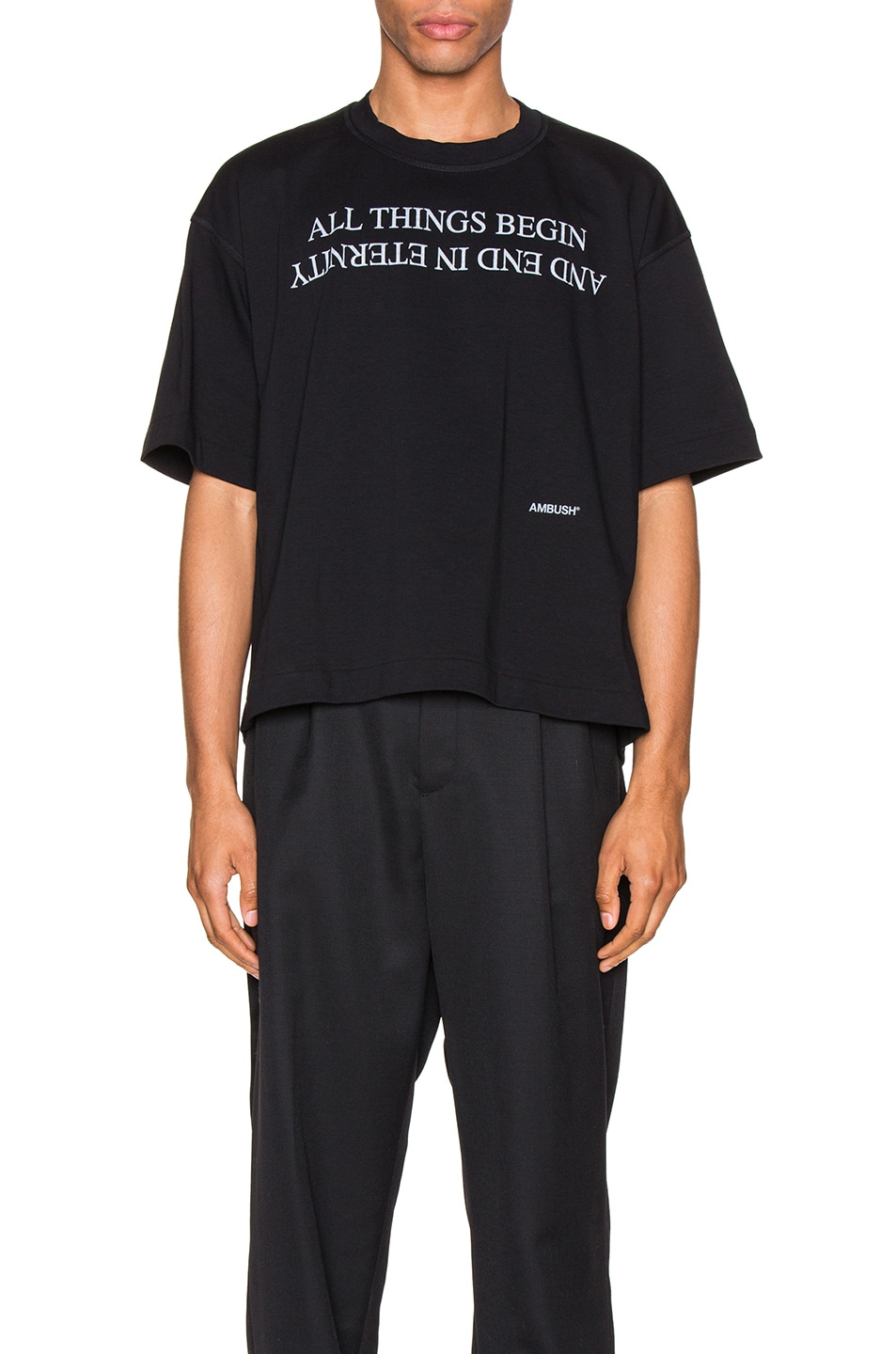 Image 1 of Ambush Boxy Tee in Black