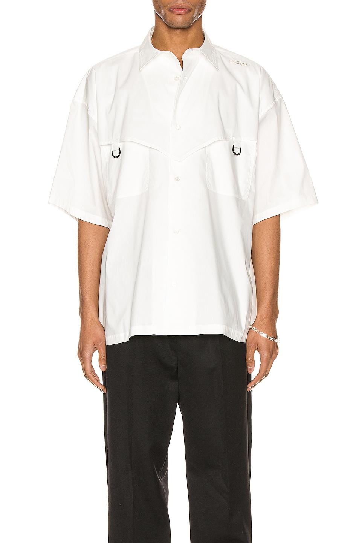 Image 1 of Ambush Short Sleeve Shirt in White