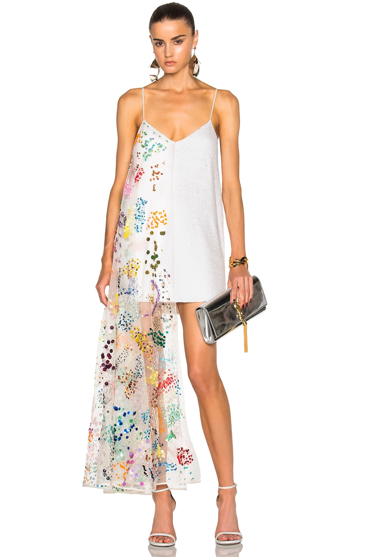 ee7f9c59bd Ashish Sequin Slip Dress in White Sprinkles | FWRD