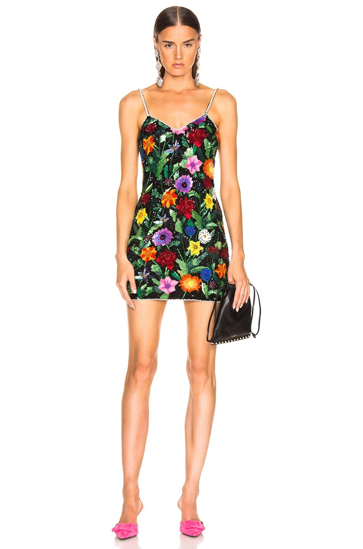 Image 1 of Ashish Beaded Mini Dress in Magicflowers