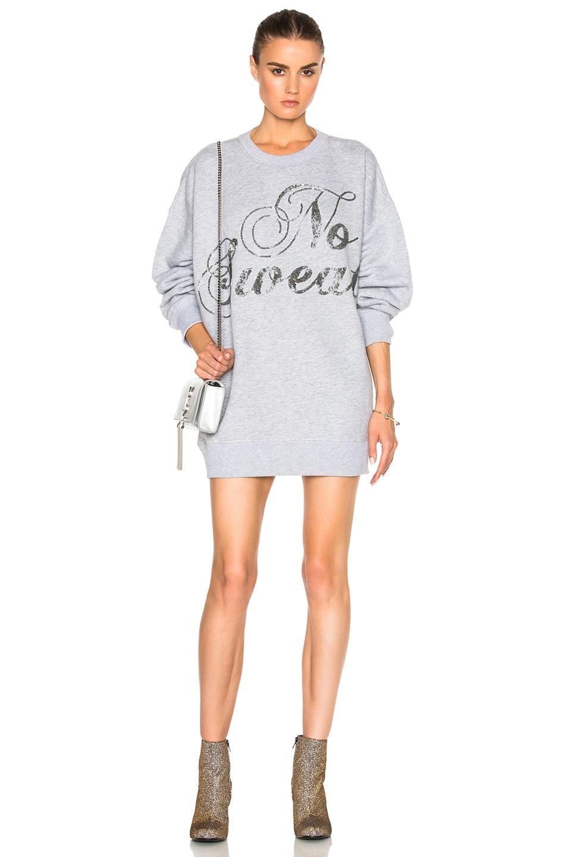 Image 1 of Ashish Swirly No Sweat Sweatshirt Dress in Grey