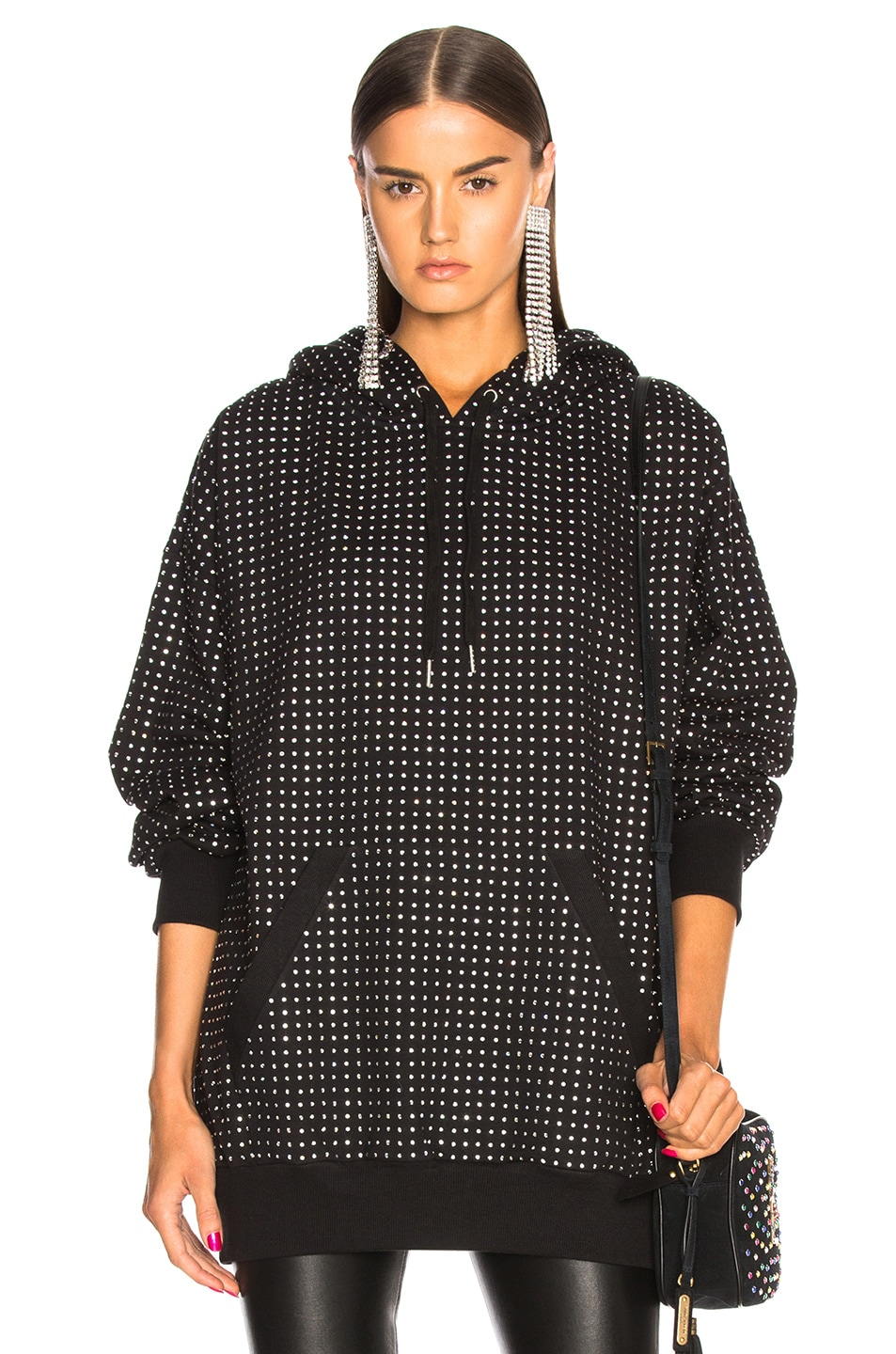 Image 1 of Ashish for FWRD All Over Swarovski Hoodie in Black