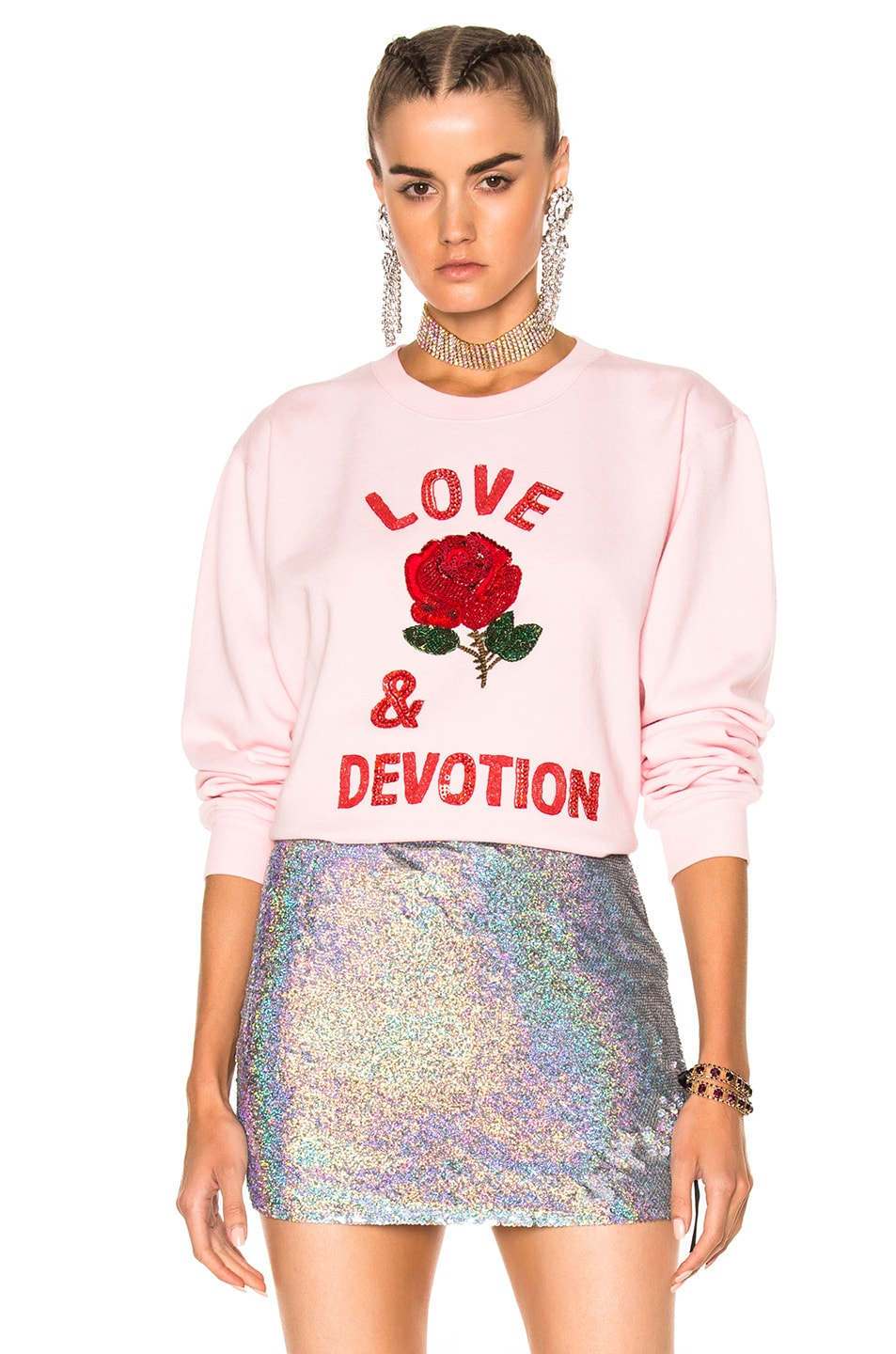 Image 1 of Ashish Love & Devotion Sweatshirt in Pink