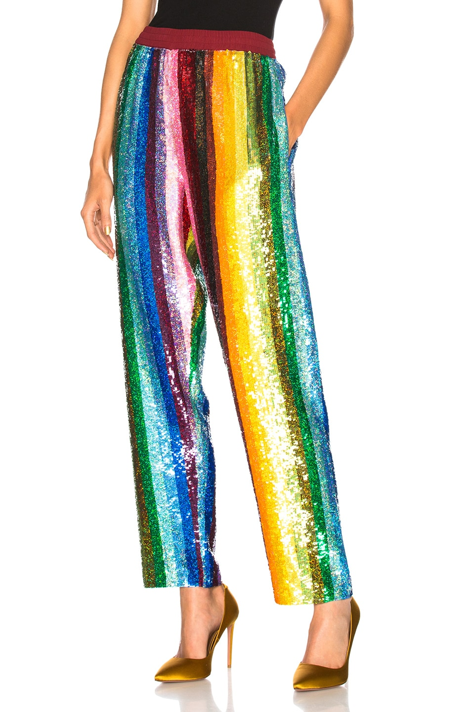 Image 1 of Ashish Pyjama Pant in Glitter Rainbow