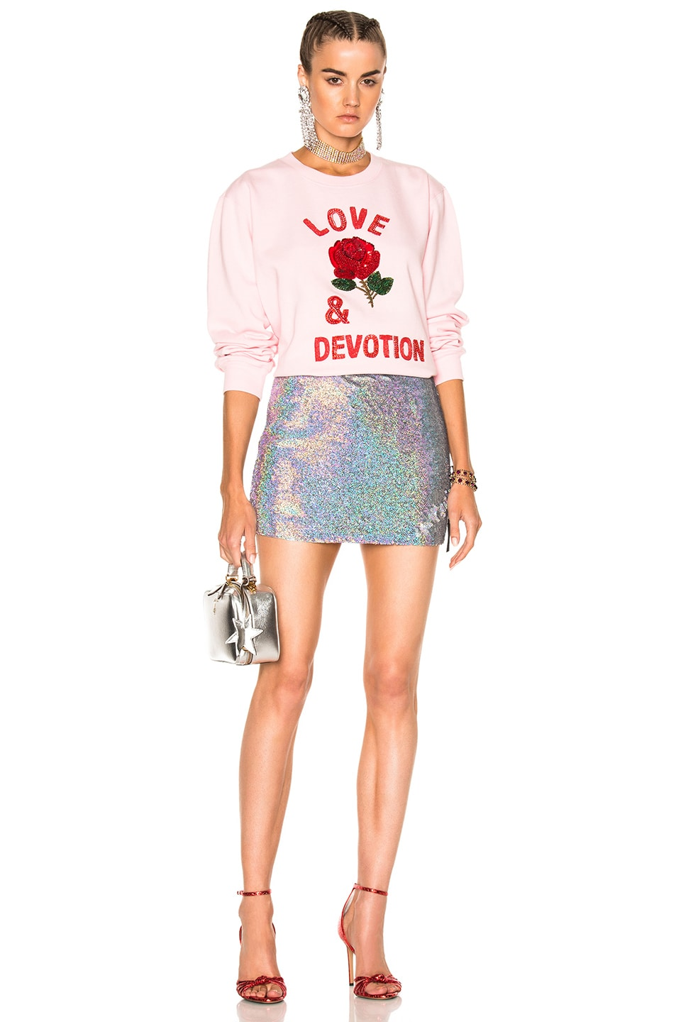 Image 5 of Ashish Sequin Mini Skirt in Silver