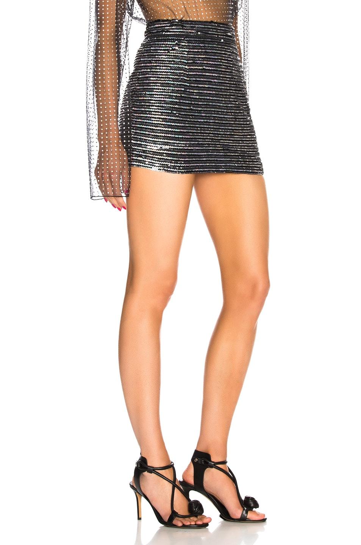 Image 2 of Ashish for FWRD Sequin Mini Skirt in Horizontal Disco Stripe
